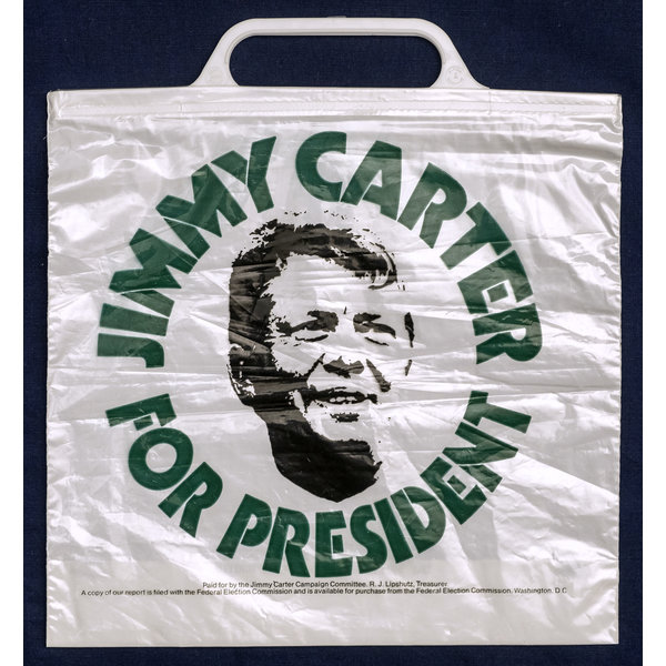 Jimmy Carter For President plastic bag