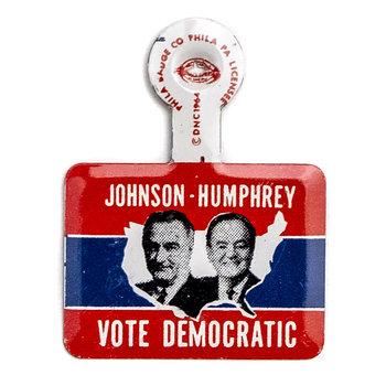 All the Way with LBJ Small Vote Democratic Johnson Humphrey Tab