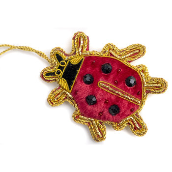 Lady Bird Lady Bug Satin Ornament