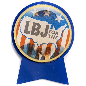 All the Way with LBJ 1964 DNC LBJ for the USA Varivue Flasher