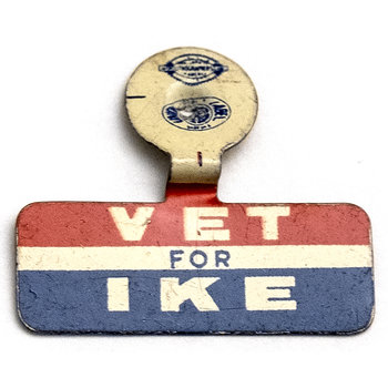 1952 Vet for IKE Campaign Tab