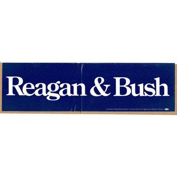 Reagan & Bush Bumper Sticker