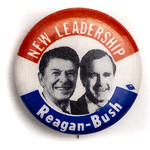 New Leadership Reagan-Bush Campaign Button