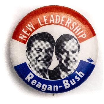 New Leadership Reagan-Bush Campaign Button