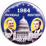 1984 Mondale Bentsen Button