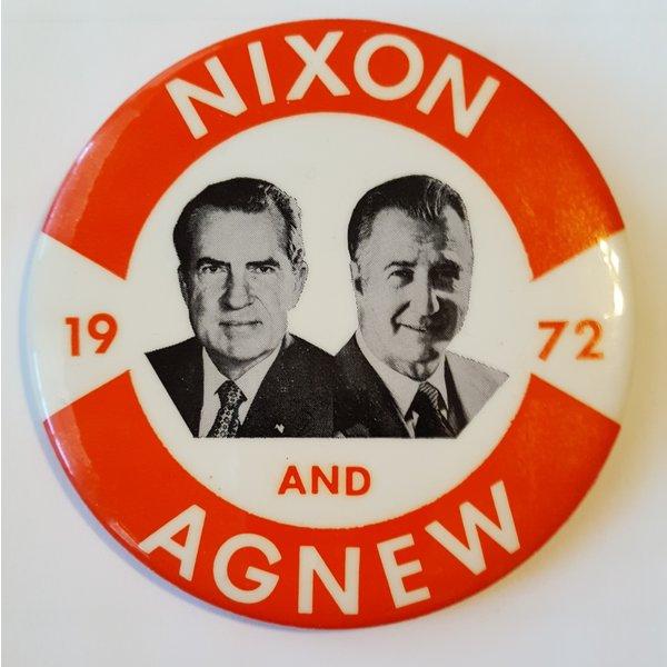 Nixon and Agnew 1972 Campaign Button