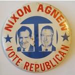 Nixon Agnew Vote Republican Campaign Button
