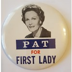 Pat For First Lady Large Button