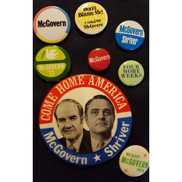 George McGovern Campaign Button Collection 3
