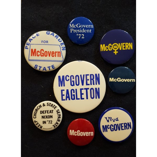 George McGovern Campaign Button Collection 4