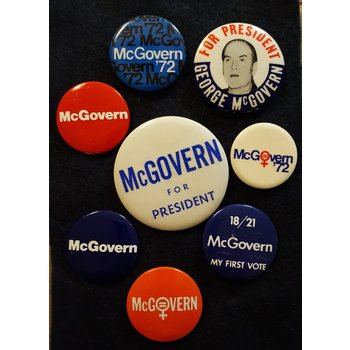 George McGovern Campaign Button Collection 5