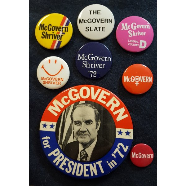 George McGovern Campaign Button Collection 6