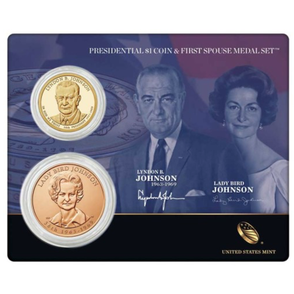 Collectible LBJ and Lady Bird Medal Set