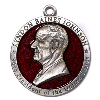LBJ Pewter Ornament