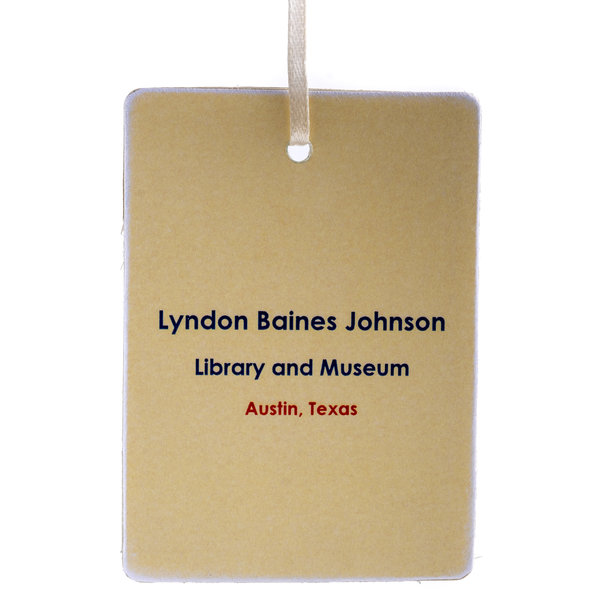 Painted LBJ Library Ornament