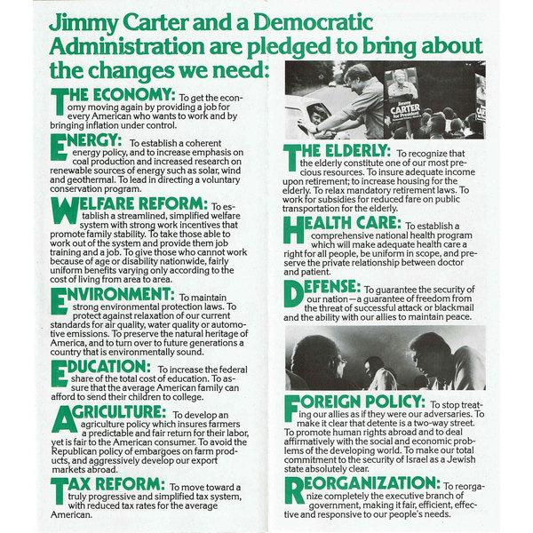 Carter Mondale 1976 Presidential Campaign Brochure