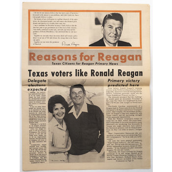 Texas Citizens for Reagan Primary Newspaper