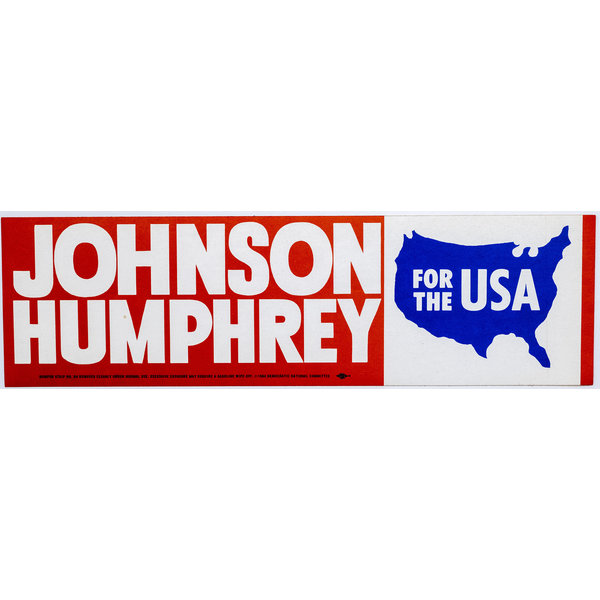All the Way with LBJ Johnson Humphrey For The USA Bumper Sticker