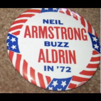 Neil Armstrong Buzz Aldrin in '72 Button
