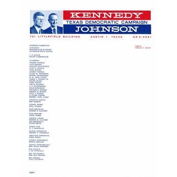 Set of 10 letterhead for Kennedy Johnson 1960 Texas Democratic Campaign