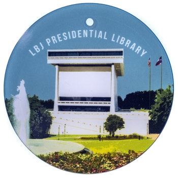 LBJ Library Glass Ornament