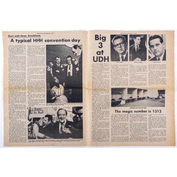 United Democrats for Humphrey 1968 DNC Newspaper