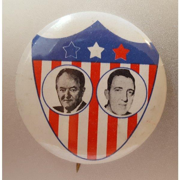Humphrey Muskie RWB Shield with photos button