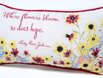 """Get in the spirit of Spring with our """"Where Flowers Bloom"""" pillow!"""