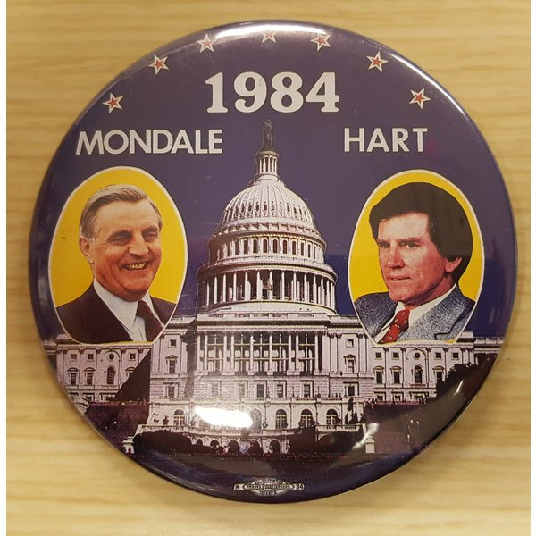 Mondale Hart 1984 DNC Button