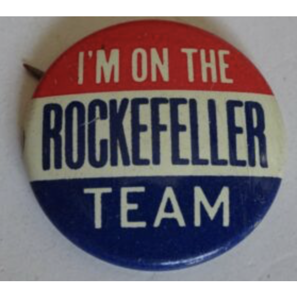 """1968 """"I'm On the Rockefeller Team"""" Campaign Button"""