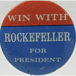 """1968 """"Win With Rockefeller"""" Campaign Button"""