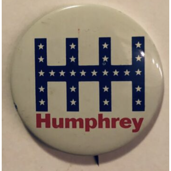 "2.25"" Blue HHH with white stars campaign button"