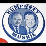 "2.25"" Humphrey Muskie Portrait Campaign Button"