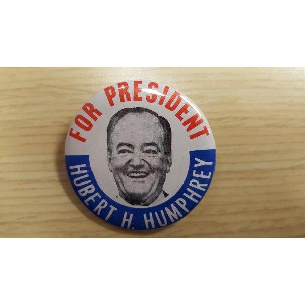 "1968 ""For President Hubert H. Humphrey"" campaign button"