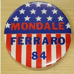 Mondale Ferraro 84 Stars & Stripes Button