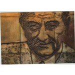 All the Way with LBJ Wall of Portraits Postcard