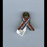 Americana RWB Ribbon Tac Pin