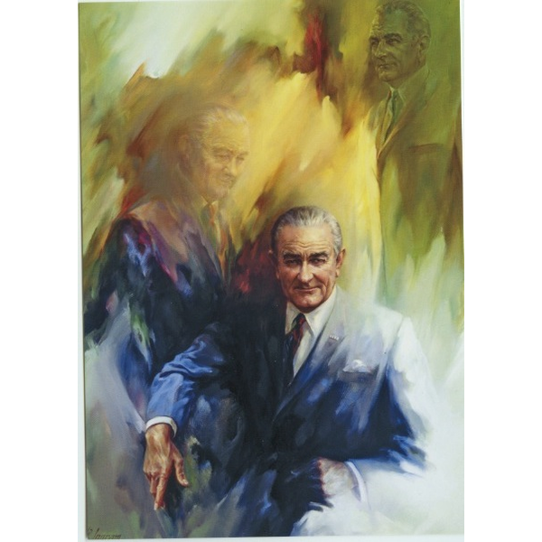 All the Way with LBJ LBJ Painting by Ingram Postcard