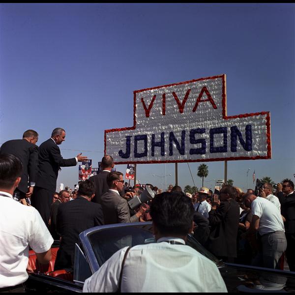 All the Way with LBJ Viva Johnson Postcard