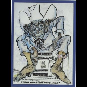 Sale sale-LBJ Cartoon by Blaine Postcard