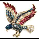 Americana RWB Enameled Eagle Pin