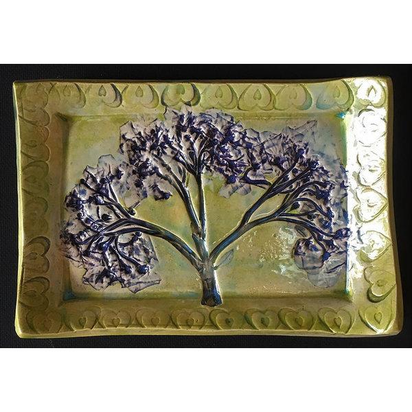 Lady Bird Johnson Pressed Flower Tapas Dish