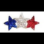 Americana Red White Blue Stars Brooch