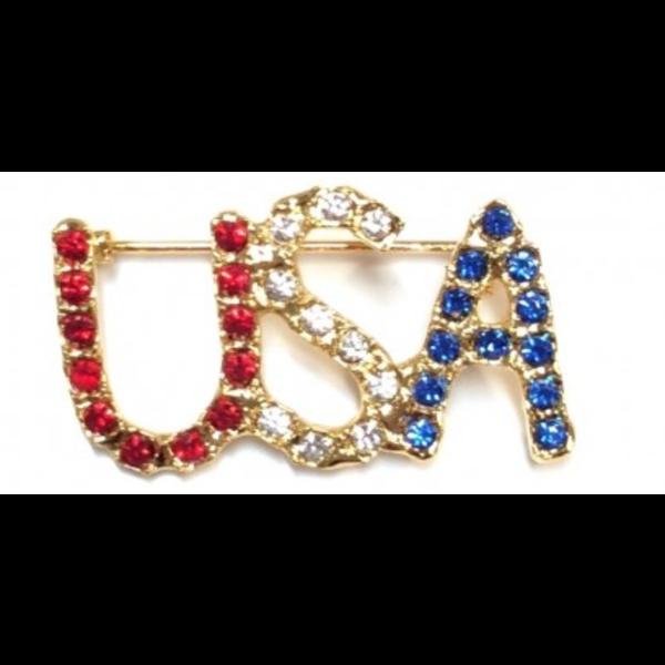 Americana USA Brooch