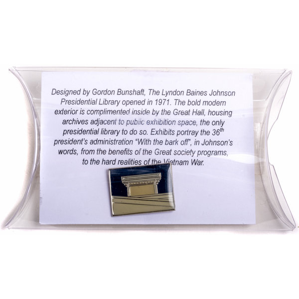 All the Way with LBJ LBJ Library Enamel Lapel Pin - Navy