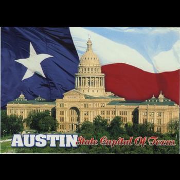 Austin & Texas Texas Capital Flag Postcard