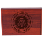 Americana Wooden Presidential Seal Can Do Business Card Holder