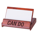 All the Way with LBJ Wooden Presidential Seal Can Do Business Card Holder