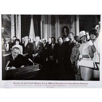 Civil Rights Voting Rights Act Signing Poster 18X24