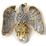Americana Large Eagle w/Pearl Pin